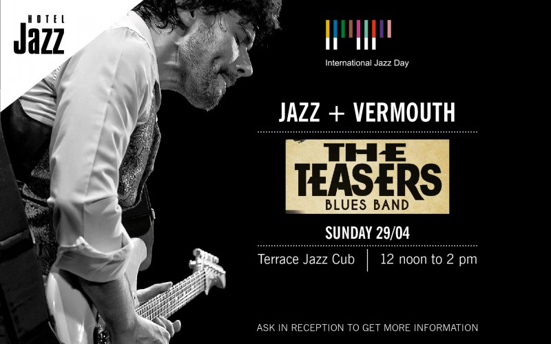 Cartel promocional del concierto de The Teasers Blues Band en Hotel Jazz